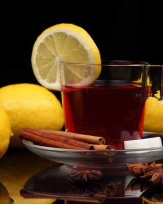 Tea with lemon and cinnamon sfondi gratuiti per 320x480