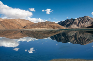 Pangong Tso lake in Tibet Picture for Android, iPhone and iPad