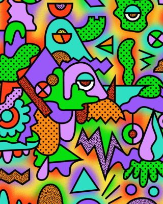 Psychedelic Abstraction Background for 240x400
