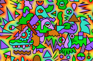 Psychedelic Abstraction papel de parede para celular para Android 540x960
