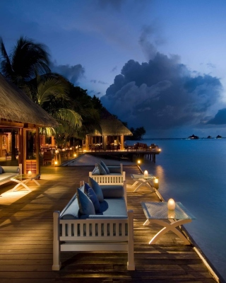 5 Star Conrad Maldives Rangali Resort sfondi gratuiti per iPhone 6 Plus