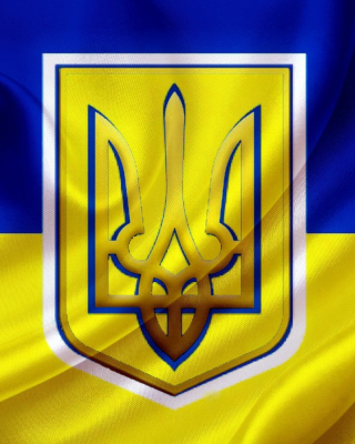 Kostenloses Flag and Coat of arms Of Ukraine Wallpaper für 320x480