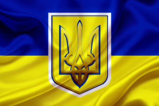 Flag and Coat of arms Of Ukraine - Obrázkek zdarma