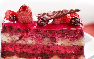 Free Delicious Berries Cake Picture for Android, iPhone and iPad
