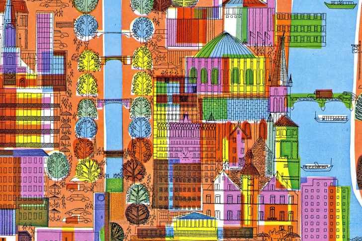Town Illustration and Clipart wallpaper