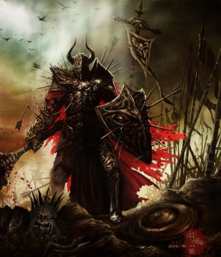 Diablo III Warrior Background for iPhone 6 Plus