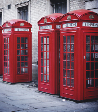 Red English Phone Booths sfondi gratuiti per Nokia Asha 305