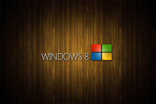 Windows 8 Wooden Emblem Background for Android, iPhone and iPad