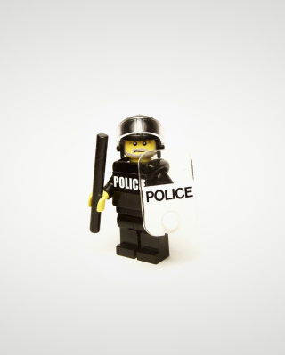 Police Lego Wallpaper for Nokia Asha 305