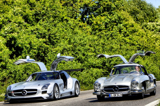 Mercedes Benz SLS Grand Tourer Coupe sfondi gratuiti per cellulari Android, iPhone, iPad e desktop