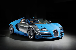 Bugatti Veyron Grand Sport Vitesse Roadster Background for Android, iPhone and iPad