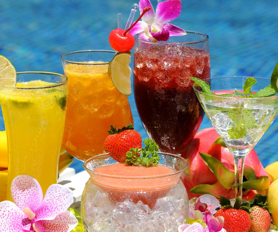 Screenshot №1 pro téma Summer cocktails in hotel All Inclusive 960x800