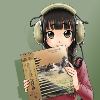 Anime Girl In Headphones - Fondos de pantalla gratis para iPad 2