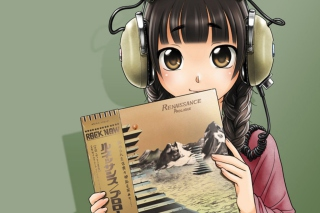 Anime Girl In Headphones - Fondos de pantalla gratis