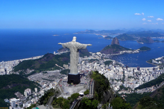 Christ the Redeemer statue in Rio de Janeiro Background for Android, iPhone and iPad