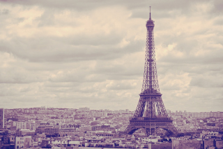 Eiffel Tower Landmark Color Wallpaper for Android, iPhone and iPad