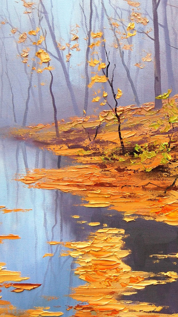 Screenshot №1 pro téma Painting Autumn Pond 360x640