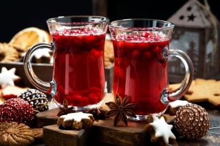 Cake and mulled wine Picture for Android, iPhone and iPad