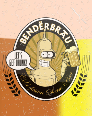 Futurama Bender  Benderbrau Wallpaper for Nokia Asha 310