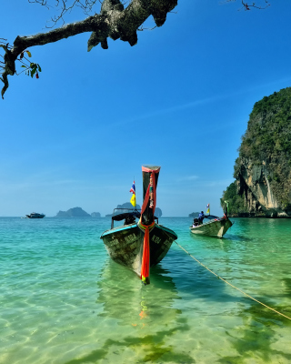 Railay Island Thailand Background for Nokia C1-01