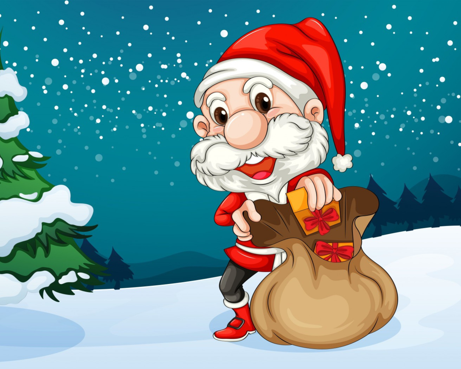 Happy Santa wallpaper 1600x1280