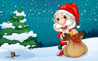 Happy Santa Background for Android, iPhone and iPad