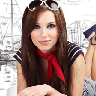 Perfect girl with good holiday mood sfondi gratuiti per iPad mini