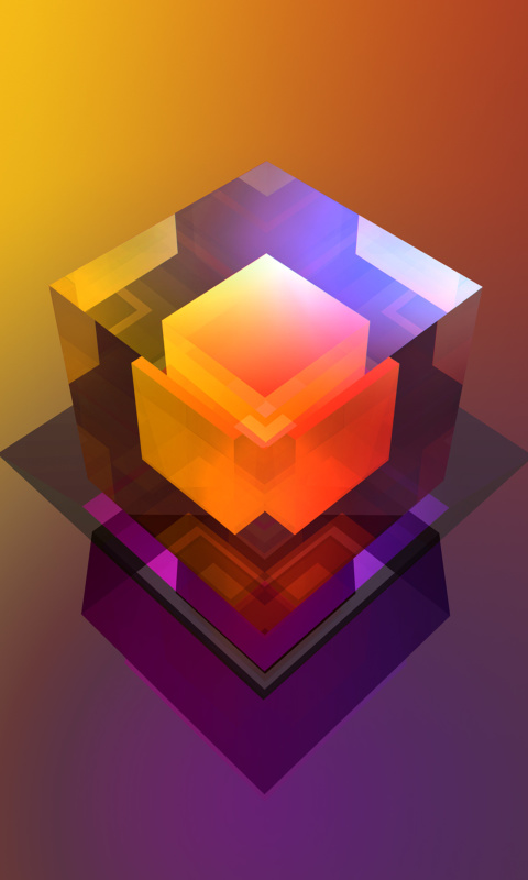 Colorful Cube wallpaper 480x800