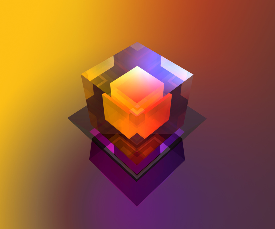Colorful Cube wallpaper 960x800