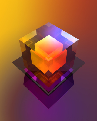 Colorful Cube Background for Nokia Asha 311