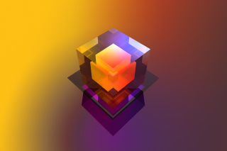 Colorful Cube Background for Android, iPhone and iPad