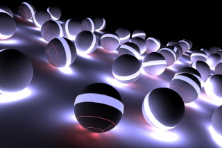 Spherical Balls Wallpaper for Desktop 1280x720 HDTV