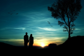 Romantic Sunset Picture for Android, iPhone and iPad