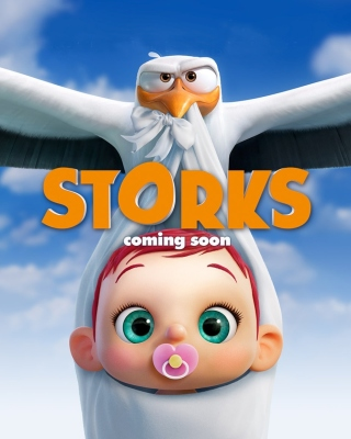 Storks HD Wallpaper for Nokia Asha 310