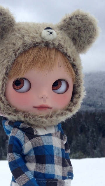 Pretty Doll In Winter Clothes