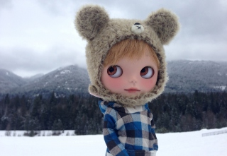 Pretty Doll In Winter Clothes Picture for Android, iPhone and iPad