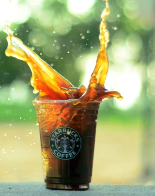 Starbucks Iced Coffee Splash papel de parede para celular para Nokia C-Series