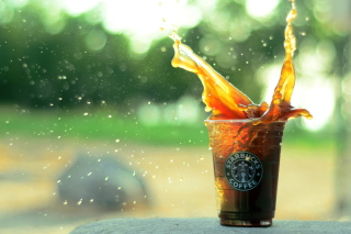 Starbucks Iced Coffee Splash Background for Android, iPhone and iPad