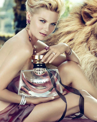 Bvlgari Jasmin Noir with Kirsten Dunst Wallpaper for 480x640