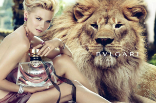 Bvlgari Jasmin Noir with Kirsten Dunst Background for Android, iPhone and iPad