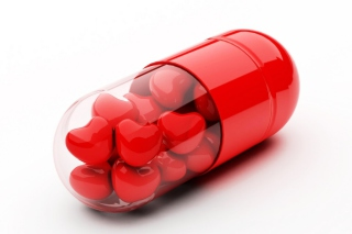 Red Love Pills Background for Android, iPhone and iPad