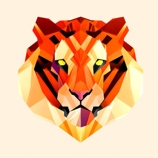 Polygon Tiger Picture for 1024x1024