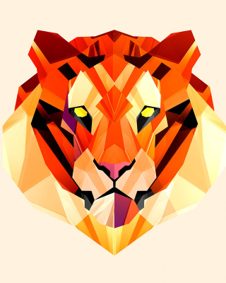Free Polygon Tiger Picture for 240x320