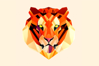 Polygon Tiger Background for Android, iPhone and iPad