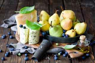Pears and cheese DorBlu Background for Android, iPhone and iPad