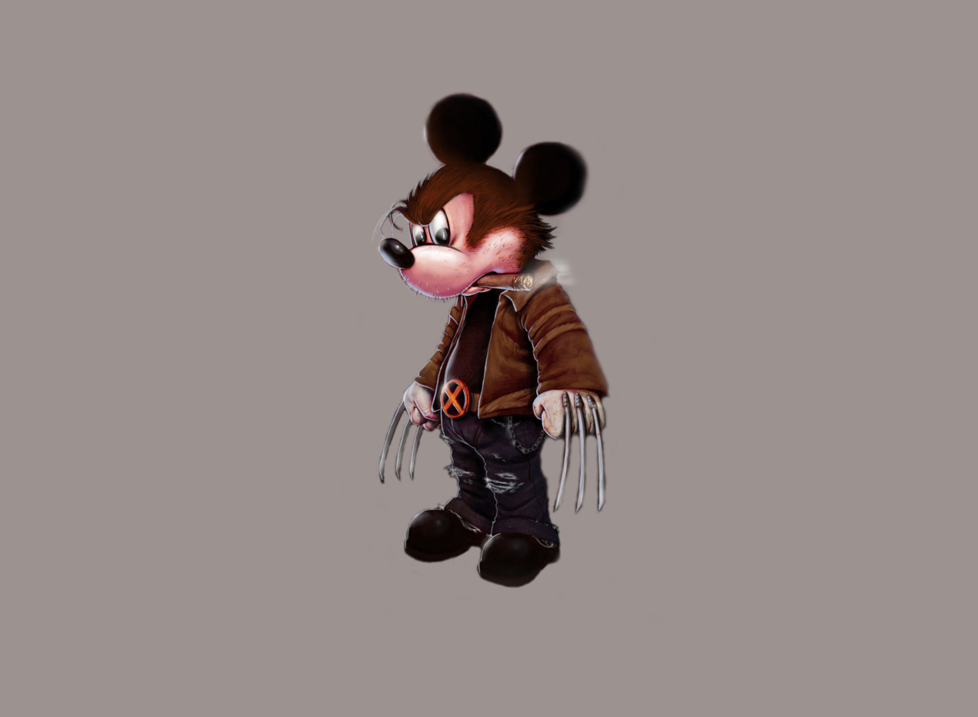 Screenshot №1 pro téma Mickey Wolverine Mouse 1920x1408