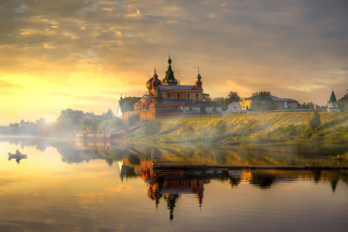 Staroladozhsky Nicholas Monastery Background for Android, iPhone and iPad