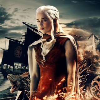 Game of Thrones Daenerys Targaryen sfondi gratuiti per iPad mini