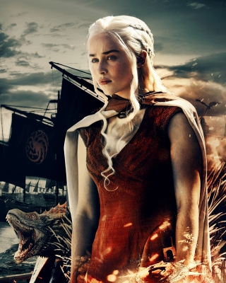 Game of Thrones Daenerys Targaryen Background for Nokia Asha 306