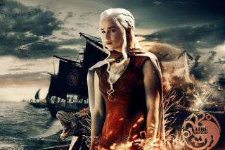 Game of Thrones Daenerys Targaryen sfondi gratuiti per 1680x1050
